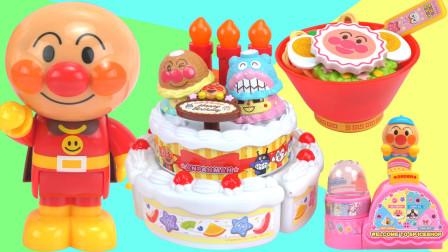 面包超人的冰淇淋生日蛋糕玩具