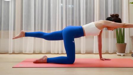 瑜伽健身训练,腿部伸展拉伸燃脂,提升腿部核心力量