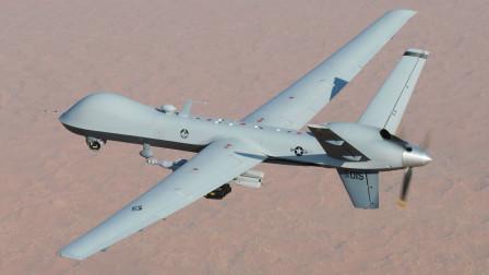 """美国空军MQ-9""""收割者""""无人机航拍"""