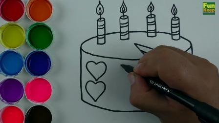 生日蛋糕手绘视频