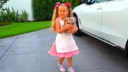 国外萌娃时尚,和小萌娃一起学做冰激凌,真开心啊