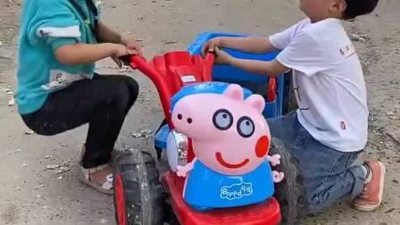 童年趣事:我们开拖拉机出去玩喽