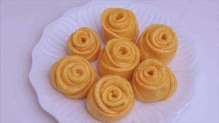 最近这款南瓜馒头火了,做法简单又美味,蓬松香甜比发糕还好吃