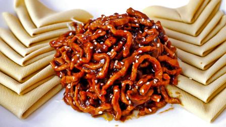 大厨分享京酱肉丝正确做法,出锅酱香浓郁,咸甜适口,太棒了