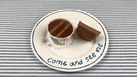 巧克力慕斯纸杯蛋糕,家庭制作精简工具步骤