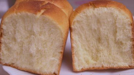牛奶吐司面包最简单的做法,1次发酵,松软拉丝,比买的还好吃
