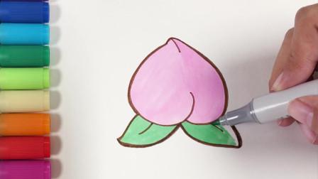 多多学画画 桃子 简单好学的水果简笔画