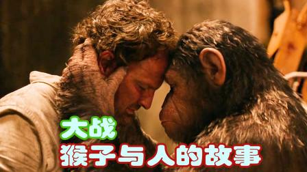 猩球大战,猴群与人类开战,因为猴群不团结引发战争