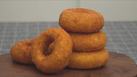 """洋葱这样吃美味了100倍?搭配芝士面包做成""""甜甜圈""""孩子最爱"""