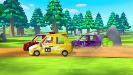 宝宝巴士:糟糕,又一辆赛车被撞到泥坑里去了!