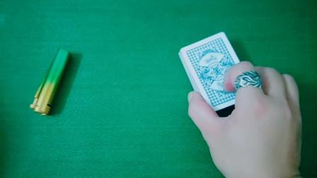 扑克手法入门基本功,魔术高手的日常练习
