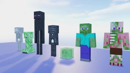 我的世界动画-怪物学院-糖豆人游戏-Mesh