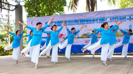 15助力海南自贸港建设海口市老干部文艺汇演舞蹈雪白的爱表演合唱三团