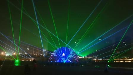 户外激光秀表演点亮漯河河畔-万圣激光