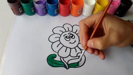 儿童彩绘,如何画出漂亮的小花,儿童简笔画