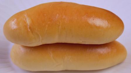 牛奶热狗面包不用买了,教你在家做,配方和做法都很简单,超好吃