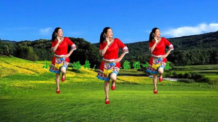 网红民族风《幺妹家住十三寨》欢快俏皮,简单28步老少都能跟着跳