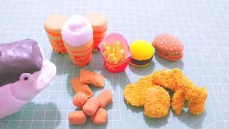 黏土手工制作迷你美食,缩小的炸鸡、汉堡、奶茶、薯条完整做法