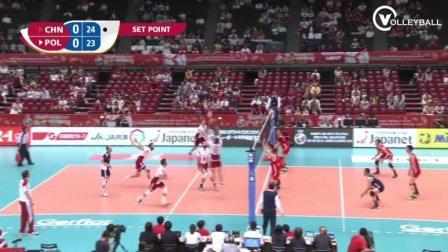 中国男排比较硬气的一仗!2016男排落选赛对阵波兰精彩集锦!