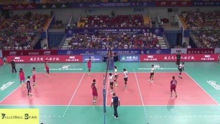 中国男排终于硬气了一次!连救6个赛点完成惊天大逆转!