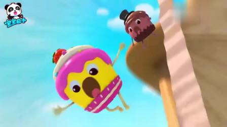 宝宝巴士:杯子蛋糕掉下来,想要通过气球跳上去