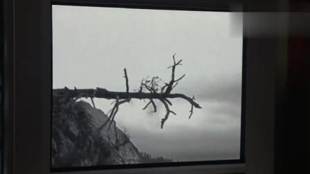 女子观看恐怖录影带,看着电视里的乱剪镜头!
