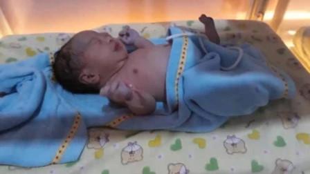 刚出生的小婴儿还没穿上衣服,身体就轻轻一颤,那一刻心都要化了
