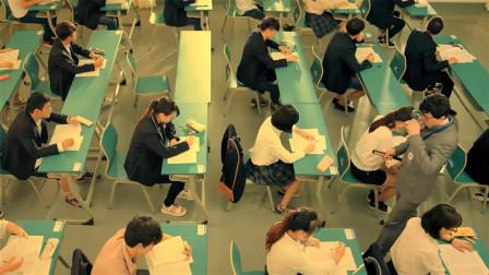 考试进行一半,广播突然要公布正确答案,所有同学都沸腾了