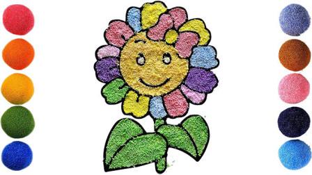 儿童英语启蒙 雪花彩泥粘土DIY手工制作玩具 花朵