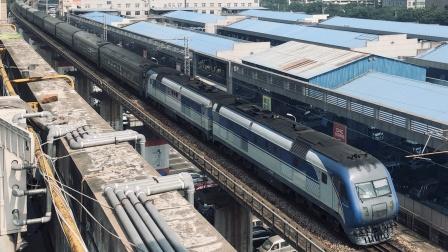 [火车]DF11G+BSP25T[Z207]天津-长沙 广铁 长沙站北客线