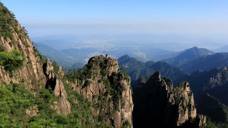 游黄山之以秀丽而闻名的后山景观