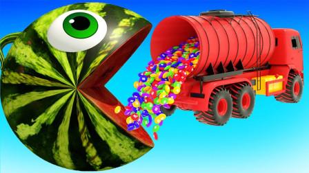 球球吃草莓巧克力蛋糕益智动画学颜色
