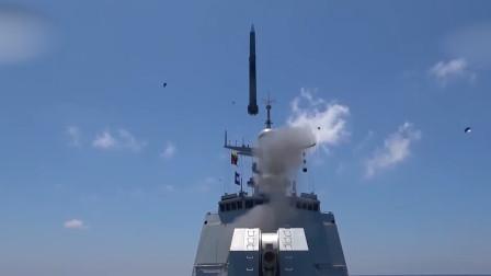 解放军052D西宁舰海上对抗画面曝光:成功拦截来袭导弹超霸气!