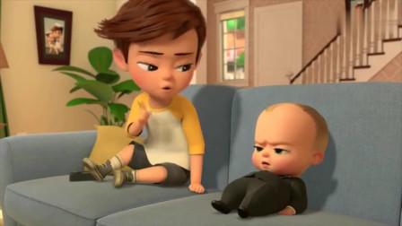 宝贝老板:小宝贝的肚子越来越严重,哥哥拿了个皮搋子来帮他
