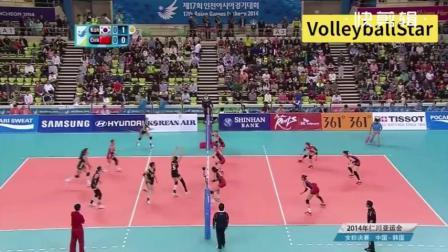 完败韩国女排!中国女排二队遭受打击!张常宁成大亮点!