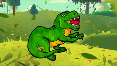 亲子启蒙恐龙简笔画,画一只合踝龙