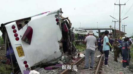突发泰国发生火车与大巴车相撞事故致多人
