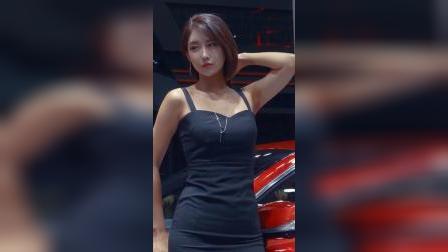 赛车模型 釜山车展 性感模特柳达妍