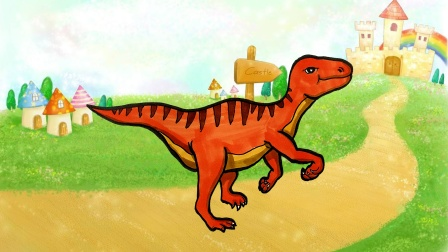 侏罗纪恐龙简笔画,画一只帅气的迅猛龙!