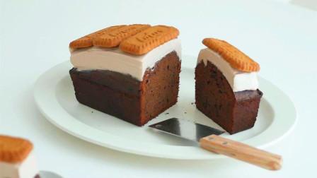 巧克力焦糖饼干蛋糕,香浓好滋味