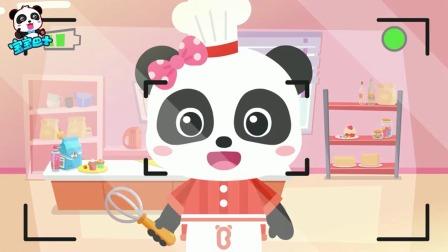 宝宝巴士动画:甜点师,小吃货跟着老师学做蛋糕,好棒!