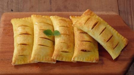 只要有面包和苹果就能快速制作的苹果派,外皮酥脆,内馅酸甜