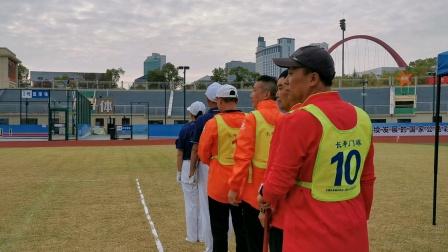 2020年江西省第六届全民健身运动会门球比赛 男子双打项目的比赛,新余队敖清华对徐爱平组合鹰潭队