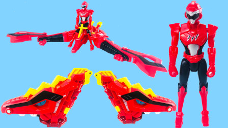 迷你特工队X超级恐龙力量 炎龙战甲赛拉斯变形召唤器形态