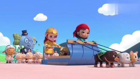 彩虹宝宝组织救援队,成功救出冰灵公主和她的来宾们!