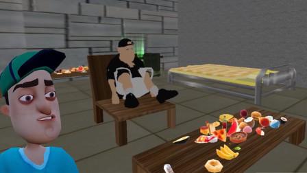 你好邻居:邻居被定住了,在椅子上不能动弹,塔米偷走了黄金!