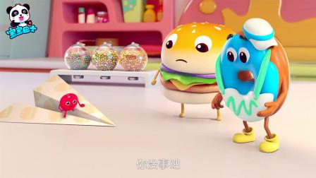 宝宝巴士:机智勇敢的甜甜圈,巧用纸飞机帮小小彩虹糖脱离险境