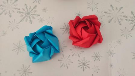 教大家折一款步骤相对比较简单的玫瑰花,喜欢的记得收藏