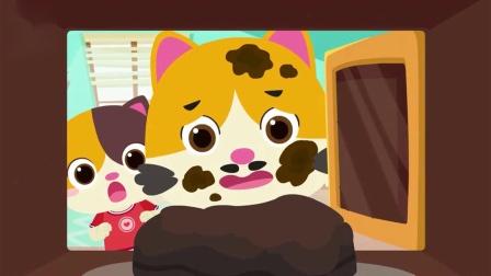 宝宝巴士动画:巧手奶爸耐心地为女儿DIY生日蛋糕
