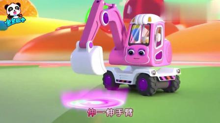 宝宝巴士:挖掘机好厉害呀,挖出巧克力喷泉,还能制作甜甜圈